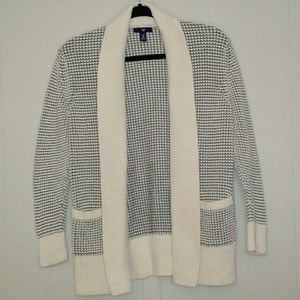 GAP - Ivory Frost Open Stitch Sweater Cardigan